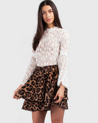 Pretty Thing Leopard Skirt