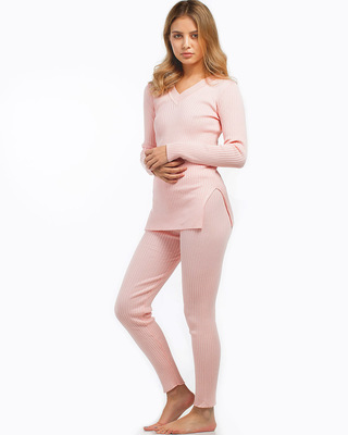 Lazy Days Lounge Two-Piece Set Pink
