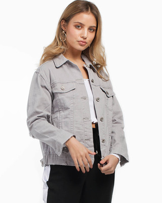 Got Your Back Denim Jacket Grey