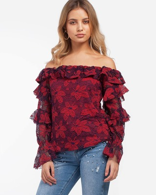 Secret Date Lace Top