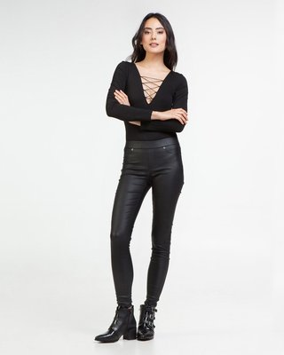 Second Skin Coated Skinny Pants