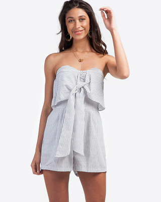 Tahiti Knotted Playsuit