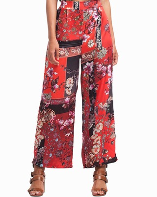 Luxurious Scarf Print Trousers