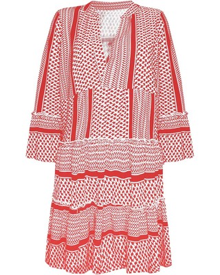 Aztec Babe Printed Dress Red