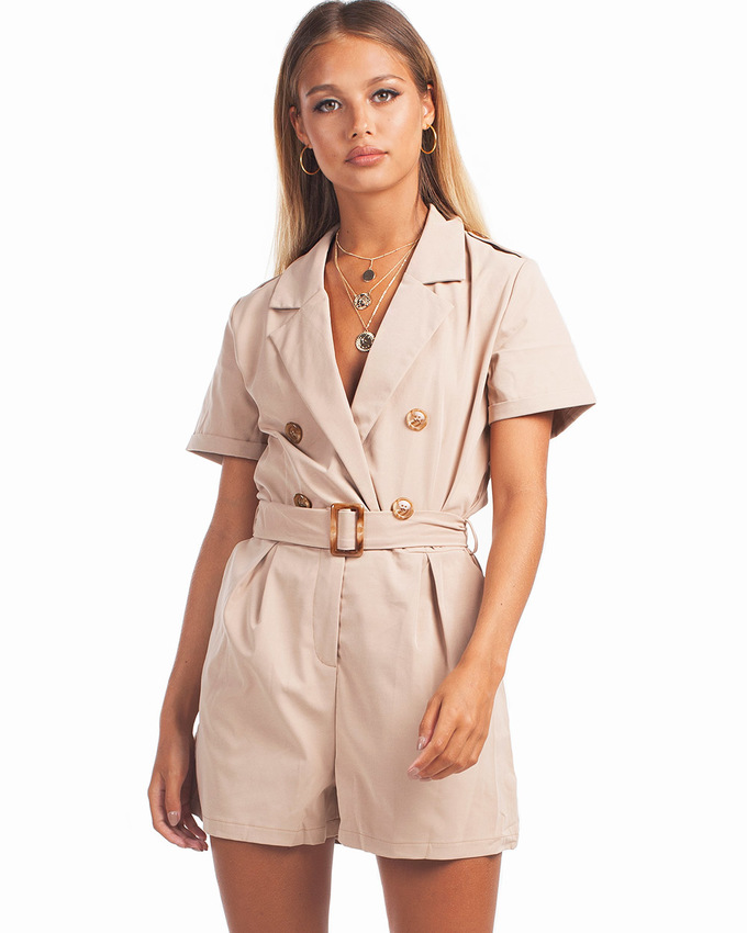 3cbd21cab4 Fashionista Playsuit Beige - Not Your Baby
