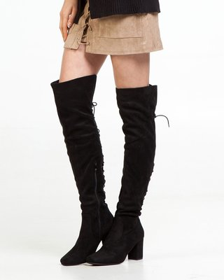 Heartbreaker Over the Knee Boots Lace Up