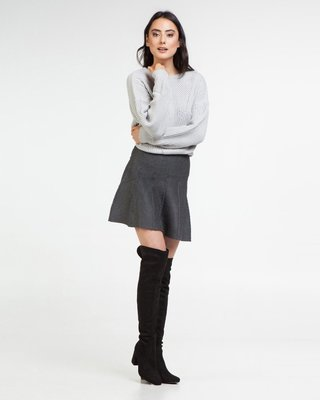 Surprise Me Baby Mini Skirt Cable Dark Grey