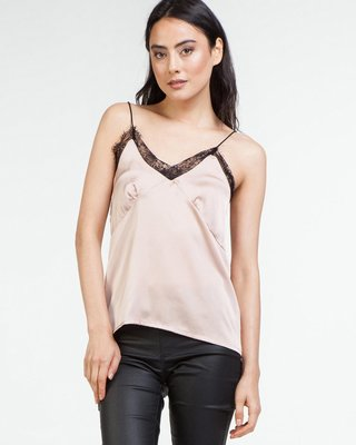 Baby Girl Satin Cami Lace Pink