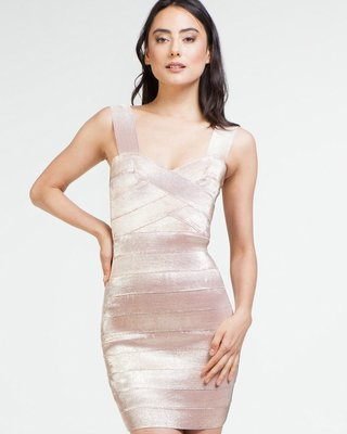 Pretty in Pink Sparkly Bandage Dress