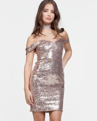 After Midnight Dress Champagne