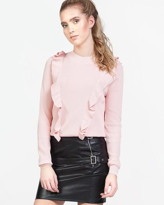 Shake Your Ruffles Sweater Pink