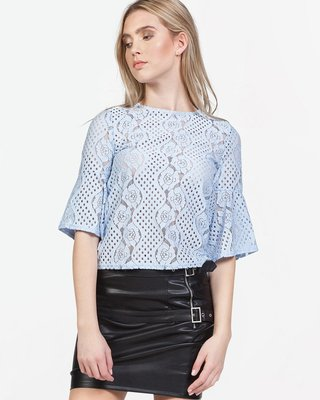 Lace And Love Top Blue