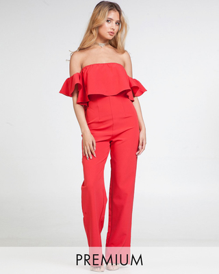 In The Spotlight Off Shoulder Jumpsuit