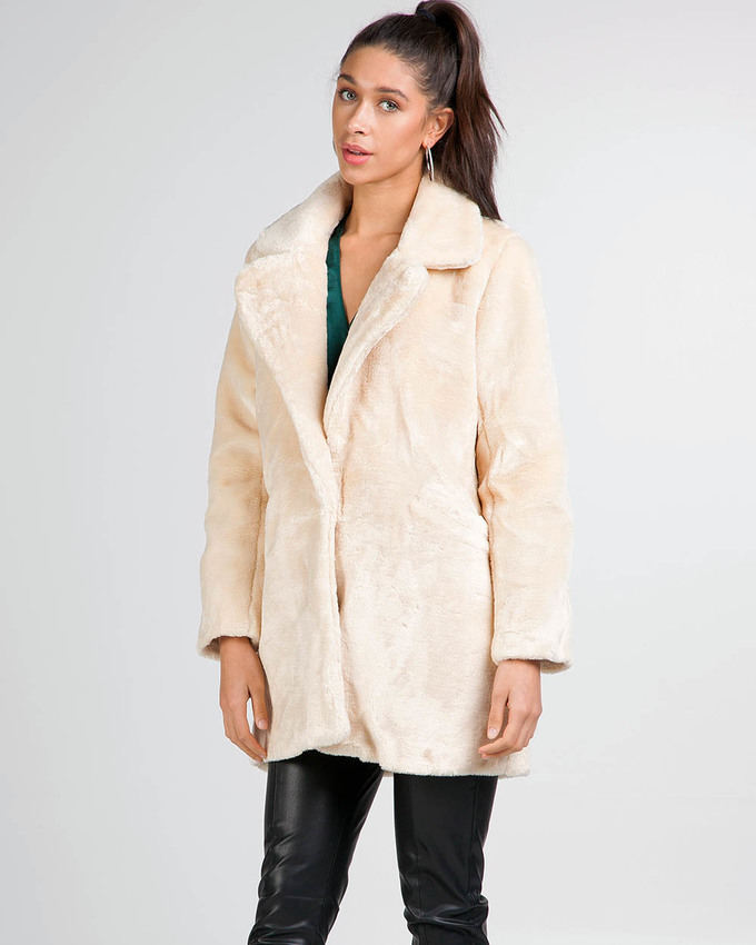 5317c51b5 It-Girl Faux Fur Coat Cream - Not Your Baby